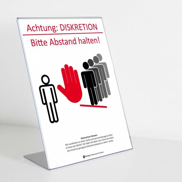 Theken-Aufsteller: Diskretion - Motiv 2 | Allgemein | Light