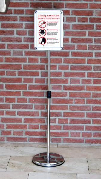 Fußboden-Aufsteller: Diskretion - Motiv 5 | Gesundheitsbranche