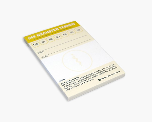 Datenschutz-Termin-Block | Arzt-Praxis und Mediziner | 10x Terminblöcke, je 50 Blatt