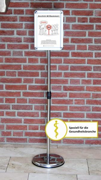 Fußboden-Aufsteller: Diskretion - Motiv 3 | Gesundheitsbranche