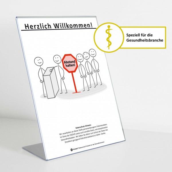 Theken-Aufsteller: Diskretion - Motiv 4 | Gesundheitsbranche | Light
