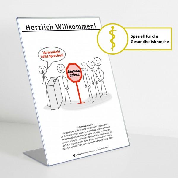 Theken-Aufsteller: Diskretion - Motiv 3 | Gesundheitsbranche | Light