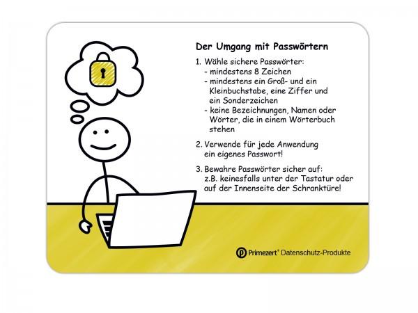 Datenschutz-Mauspads zur Mitarbeiter-Sensibilisierung
