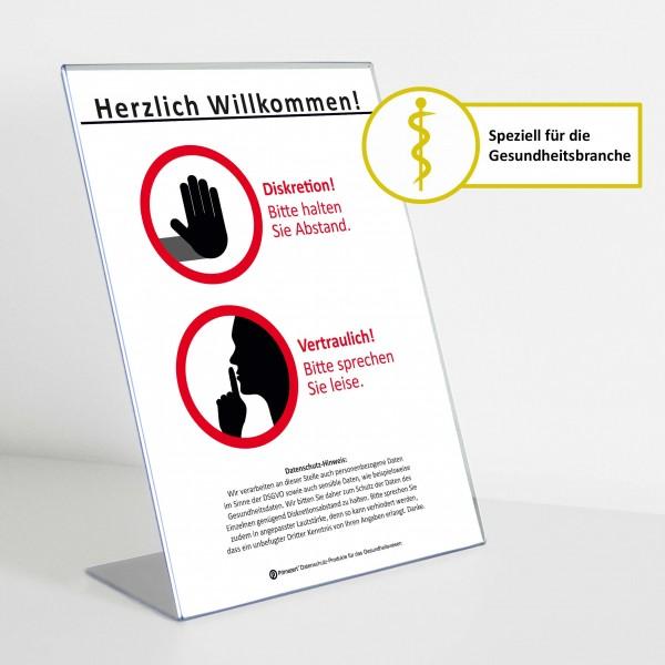 Theken-Aufsteller: Diskretion - Motiv 1 | Gesundheitsbranche | Light