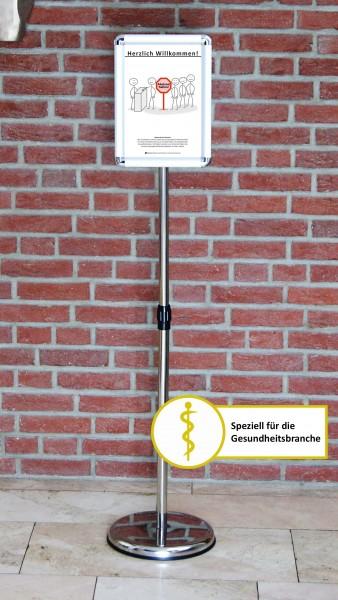 Fußboden-Aufsteller: Diskretion - Motiv 4 | Gesundheitsbranche